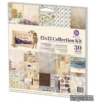 Набор бумага+наклейки от Prima - French Riviera Collection Kit, 30,4x30,4 см, 27 л