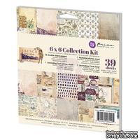 Набор бумага+наклейки от Prima - French Riviera Collection Kit, 15,24x15,24 см, 39 л