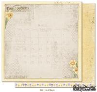 Двусторонний лист скрапбумаги от Maja Design - Vintage Spring Basics - 1st of March