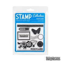 Набор акриловых штампов  American Crafts -  Acrylic Stamps - Postcard - Margarita