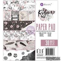 """Набор бумаги от Prima - Rose Quartz  6""""x6"""" Paper Pad, 15x15см, 30 листов"""
