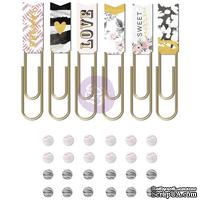 Набор украшений от Prima - Rose Quartz Gems & Paper Clips, 24+6 шт.