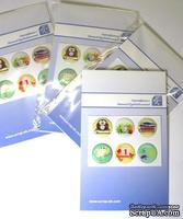Набор эпоксидных наклеек от  Евгения Курдибановская ТМ - Школьная пора, 6 штук