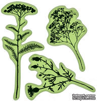 Набор резиновых штампов от Inkadinkado - Field of Flowers, 3 шт