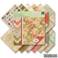"""Набор бумаги от K&Company - """"Цветочный"""", 12 листов, 31х31 см"""