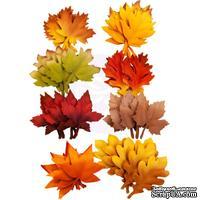 Набор листиков Prima - Autumn Leaves - Autumn Sunset, 48 штук