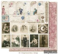 Двусторонний лист скрапбумаги от Maja Design - Vintage Autumn Basics Heritage, 30х30см