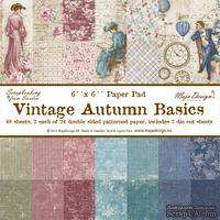 Набор бумаги для скрапбукинга от Maja Design - Vintage Autumn Basics - Paper Pad, 15х15 см, 48 листов