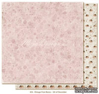 Двусторонний лист скрапбумаги от Maja Design - Vintage Frost Basics - 5th of Dec