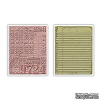 Папки для тиснения от Sizzix - Texture Fades Embossing Folders 2PK - Collage & Notebook Set, 2 шт.