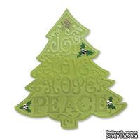 Нож и Папка для тиснения Sizzix - Bigz Die w/Bonus Textured Impressions - Tree, Christmas, 1 шт.