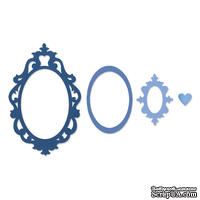 Лезвия Sizzix Framelits Die Set 4PK - Frame, Fancy Oval, 3 шт.