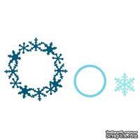 Набор ножей Sizzix Framelits Die Set 3PK - Frame, Snowflake - Cнежинки, 3 шт.