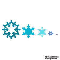 Лезвия от Sizzix - Framelits Die Set  - Snowflakes, 3 шт
