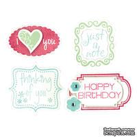 Лезвия и штампы от Sizzix - Framelits Die Set 8PK w/Stamps - Birthday & Frames