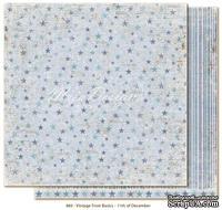 Двусторонний лист скрапбумаги от Maja Design - Vintage Frost Basics - 11th of Dec