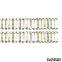 Пружинки для биндера - WR - Cinch - Wire Binders - Gold (.75in), диаметр 1.91см, 2 шт.