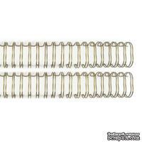 Пружинки для биндера - WR - Cinch - Wire Binders - Gold (.625in), диаметр 1.59см