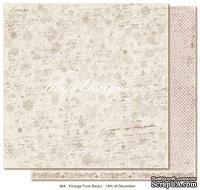 Двусторонний лист скрапбумаги от Maja Design - Vintage Frost Basics - 19th of Dec