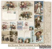 Двусторонний лист скрапбумаги с картинками от Maja Design - Vintage Frost Basics - Christmas diecuts