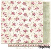 Двусторонний лист бумаги для скрапбукинга от Maja Design - Coffee in the Arbour - Rose garden, 30x30 см