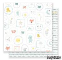 Скрапбумага от Crate Paper - Sweet Baby, двусторонняя, 30х30 см