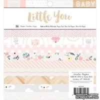 Набор односторонней скрапбумаги от Crate Paper - Little You, 15х15 см, 36 листов