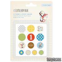 Набор брадсов Crate Paper Baby Boy - Baby Pins, тканевые и эпоксидные, 13 шт. - ScrapUA.com