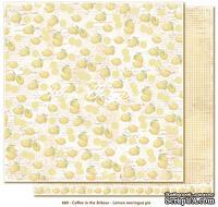 Двусторонний лист бумаги для скрапбукинга от Maja Design - Coffee in the Arbour - Lemon meringue pie, 30x30 см