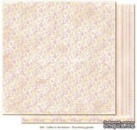 Двусторонний лист бумаги для скрапбукинга от Maja Design - Coffee in the Arbour - Flourishing garden, 30x30 см