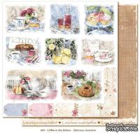 Двусторонний лист бумаги для скрапбукинга от Maja Design - Coffee in the Arbour - Delicious moments, 30x30 см