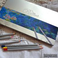 Карандаши цветные, 36 цветов, шестигранные, в металлическом пенале, Marco Raffine