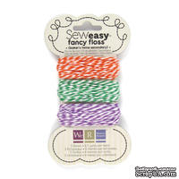 Набор шнурочков от We R Memory Keepers - Sew Easy Fancy Floss Bakers Twine - Secondary, 3 шт.