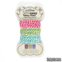 Набор шнурочков от We R Memory Keepers - Sew Easy Fancy Floss Bakers Twine - Tertiary, 3 шт.