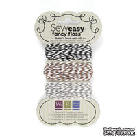 Набор шнурочков от We R Memory Keepers -Sew Easy Fancy Floss Bakers Twine - Neutrals, 3 шт.