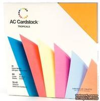 Набор картона от American Crafts - Tropicals,  30х30 см