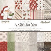 Набор бумаги для скрапбукинга от Maja Design - A Gift for You - at Christmas Time Paper Stack, 15x15см, 36 листов