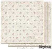 Лист двусторонней бумаги от Maja design - Vintage Baby - Flowers for mum30х30см