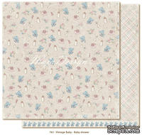 Лист двусторонней бумаги от Maja design - Vintage Baby - Baby shower30х30см