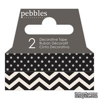 Бумажный скотч Pebbles - Basics Black, длина 10 м, ширина 1 см