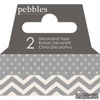 Бумажный скотч Pebbles - Basics Ash, длина 10 м, ширина 1 см