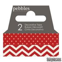 Бумажный скотч Pebbles - Basics Rouge, длина 10 м, ширина 1 см
