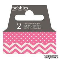 Бумажный скотч Pebbles - Basics Begonia, длина 10 м, ширина 1 см