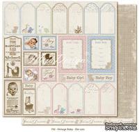 Лист двусторонней бумаги от Maja design - Vintage Baby - Die Cuts30х30см