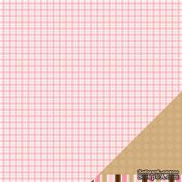 Лист двусторонней бумаги от American Crafts - Pebbles Paper - New Addition Girl - It's A Girl