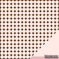 Лист двусторонней бумаги от American Crafts - Pebbles Paper - New Addition Girl - Sweet Dreams - Embossed Finish