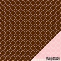 Лист двусторонней бумаги от American Crafts - Pebbles Paper - New Addition Girl - Little Hands