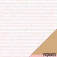 Лист двусторонней бумаги от American Crafts - Pebbles Paper - New Addition Girl - Tiny Treasure - Embossed Finish