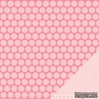 Лист двусторонней бумаги от American Crafts - Pebbles Paper - New Addition Girl - Little Princess