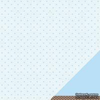 Лист двусторонней бумаги от American Crafts - Pebbles Paper - New Addition Boy - Sweet Baby - Embossed Finish